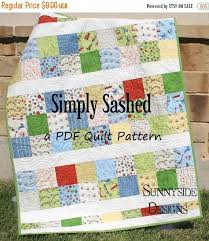155 best Charm square quilts images on Pinterest | Easy quilts ... & PDF Quilt Pattern, Simply Sashed, Charm Pack Precuts Simple Moda Riley  Blake, Quick Adamdwight.com