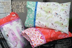 How Much Fabric To Make A Pillowcase Custom Make This Burrito Pillowcase With One Way Fabric Tutorial