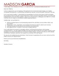 Amazing Cover Letter For Receptionist Photos Hd Goofyrooster