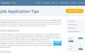 Job Application Tips in ResumeBuilder.org Support