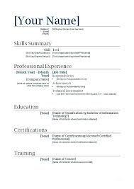 Microsoft Free Resume Templates Amazing First Job And Cover Letter Service With Good Resume Examples For