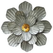 stratton home decor galvanized flower wall decor