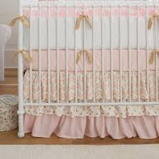c crib skirt baby and kids white crib with pink and gray bedding project nursery