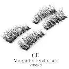 6d magnetic eyelashes double tiny magnets natural false lashes women fashion diy