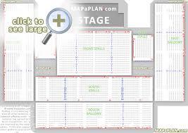 Brighton Centre Seat Numbers Detailed Seating Plan
