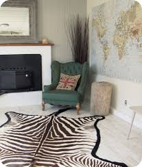 Zebra Rug Living Room My House Of Giggles Zebra Skin Rug For Sale