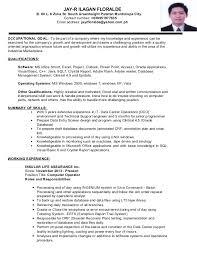 How To Do A Resume Enchanting Jayr Floralde Resume