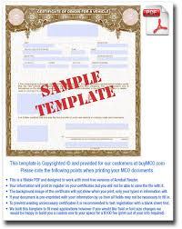 Manufacturer Certificate Of Origin Template Templates Resume