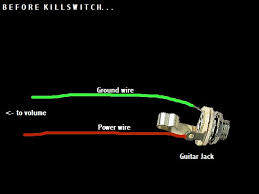 alexplorer s axe hacks kill switch this is how your output jack probably looks just two wires to two lugs if you have a preamp or active pickups then there s be a third