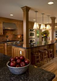 cool kitchen ideas. Beautiful Brown Wooden Kitchen Layout With Cool Pillared And Dark Marble Top Island Design. Designs Islands Ideas L