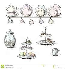 vintage kitchen utensils illustration. Modren Illustration Hand Drawn Illustration Of Kitchen Utensils Throughout Vintage Kitchen Utensils Illustration N