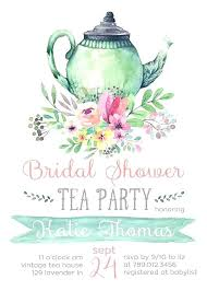 tea party templates bridal shower tea party invitation template by kitchen templates