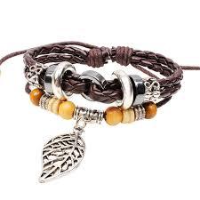 maple leaf charm bracelet men leather bracelet bracelets for women and girls wood bead bracelets bangles jewelry braclet bl77