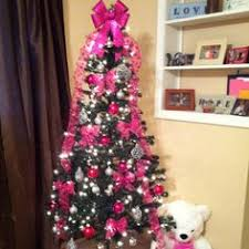 Pink & Silver  Christmas TreesChristmas ...