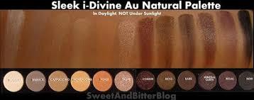 sleek i divine eyeshadow palette au naturel อายแชโดว ส