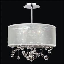 soho living lighting. Silhouette Crystal Three Light Pendant With Double Lined Sheer Shade Soho Living Lighting
