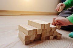 Game Played With Wooden Blocks Wooden blocks game stock image Image of brick human 100 67