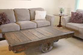 Mill Cart Coffee Table Vintage Industrial Cart Coffee Table