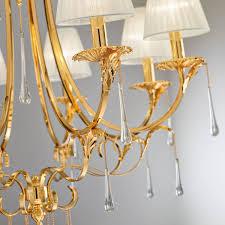 Design Kronleuchter Fiorenza Luster Gold Antik Metall 8 Flammig