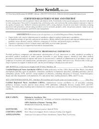 Anesthesiologist Resume Best Anesthesiologist Nurse Sample Resume Colbroco