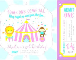 Birthday Party Invitation Card Template Free Circus Birthday Invitation Template Free Inspirational Circus Party