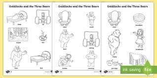 Free printable rainbow coloring page and activities for kids. Goldilocks And The Three Bears Words Colouring Differentiated
