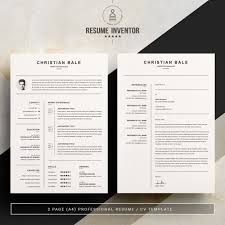 2 Page Cv Template Cv Resume Template Ms Word