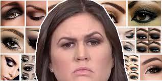how to do smokey eye as well as sarah huckabee sanders