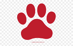 red dog paw clipart. Interesting Paw Fresh Clipart Of Paw Prints Dog Print Clip Art  Red And