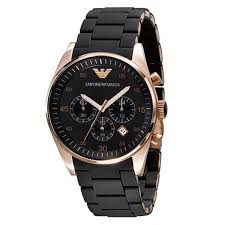 mens armani watches uk outlet store mens black emporio armani chronograph silicone watch ar5905