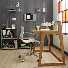 computer table design for office. warm wood and elegant shapes computer table design with style for office