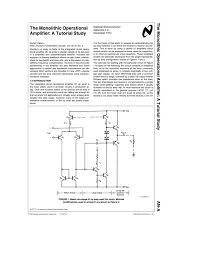 Design Aspects Of Monolithic Op Amps The Monolithic Operational Amplifier A Tutorial Study