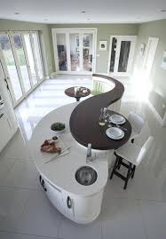 Full Image for Curved Kitchen Island With Sink Worktop Table ...