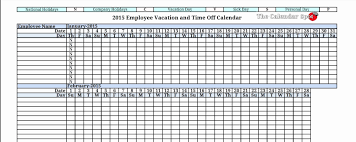 Vacation Calendar Template Vacation Tracking Spreadsheet Awesome Vacation Calendar Template 1