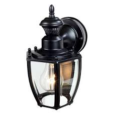 heath zenith 11 in h black motion activated outdoor wall light view larger