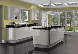 High Gloss Kitchen Floor Tiles Black Gloss Kitchen Ideas House Decor