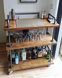 wood metal wine rack. Simple Rack WGX Wood And Metal Wine Rack With Wheels Kicthen Bar Dining Room Tea  Holder Serving With L