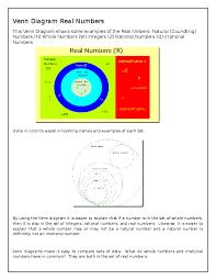 Real Numbers Venn Diagram Venn Diagram Real Numbers Cristina Dones Academia Edu