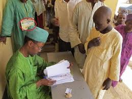 Image result for nnamdi kanu wife picture of underage voting in Kano, Nigeria