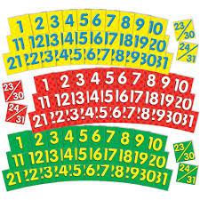 Yellow Calendar Pocket Chart Calendar Dates Pocket Chart Add Ons 2 Colored Sets Of Dates