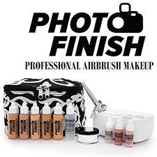 amazon photo finish professional airbrush cosmetic makeup system kit fair to um shades 5pc foundation set with blush concealer shimmer