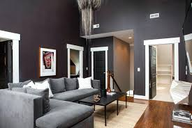 Contemporary living room gray sofa set Mid Century Gray Living Room Designs Another Living Room In The Houses Second Floor Featuring Modern Sofa Set And Gray Walls Dark Grey Couch Living Room Design Gray Living Room Designs Another Living Room In The Houses Second