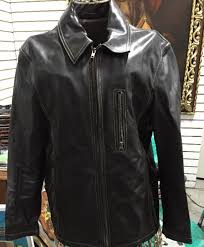 men s armani jeans leather jacket dark brown size 28