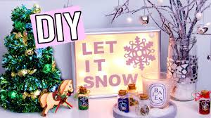 DIY WINTER/Christmas Decorations! Light up sign, Edible Tree & more! Cute  Holiday projects! - YouTube