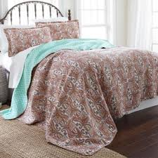 Buy Aqua King Quilt from Bed Bath & Beyond & Arsenia Reversible King Quilt Set in Red/Aqua Adamdwight.com