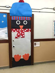 cool door decorations. Delighful Decorations Christmas Door Decorations Ideas Cool Penguin In Snow Decoration  School For The Office C