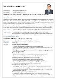 cv format for bank job