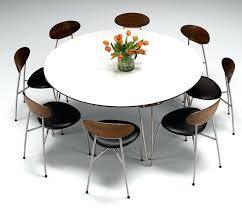 extending dining table seats 8 marvelous modern round dining table for 8 white dining room table