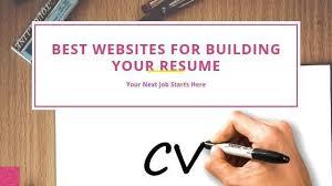 Resume Building Websites Best Websites For Building Your Resume Writers Spire