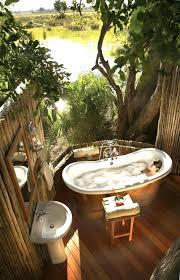 outdoor bathtub wood fired